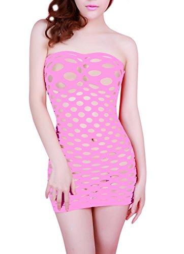 MissSoul Damen Dessous Sexy Erotik Reizwäsche Frauen Lingerie Body Wäsche Unterwäsche Negligee Trägerlos Mesh Höhle Korsett (Sexy Kostüme Billig Frauen)