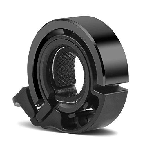 CHIZEA Fahrradklingel, O Design Fahrradglocke, Aluminiumlegierung, 90dB Laut, für Lenker von 22,2 bis 31,8 mm Durchmesser, schwarz