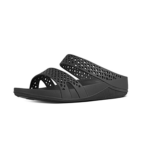 FitFlop - Welljelly Z-slide Sandals, Scarpe col tacco Donna Black (All Black)