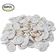 Finger Cot 200 PCS Latex Anti-static Finger Covers Finger Tip Rubber Protect Keeping Dressing Dry and Clean (200 PCS)