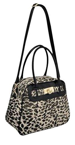 EyeCatchBags - Charlize Jute Animal Design Damen Handtasche Schultertasche Leopard