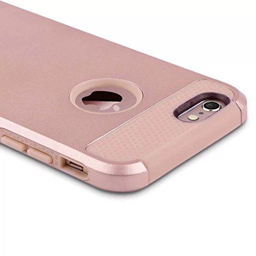 iPhone 7 Coque,Lantier Armure robuste [Protection Extreme] Dual Layer ScratchRésistant aux chocs Absorbing Robuste et Slim Defender Bumper pour iPhone 7 (4,7 pouces) Gris+Rose d'or Rose Golden