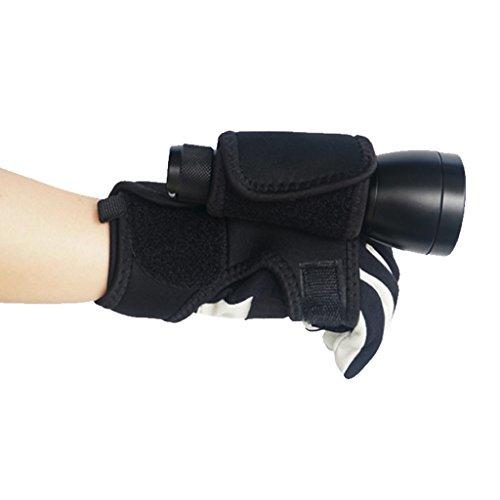 Sharplace Universal Verstellbare Hand und Arm Strap Halterung für Unterwasser Taschenlampe Schwarz