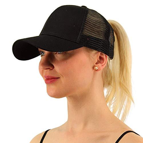 Amkun Pferdeschwanz Baseball Cap Ponycaps Messy Pferdeschwanz Einstellbare Outdoor Mesh Cap Trucker Papa Hut für Frauen Männer Low-profile-mesh-hüte
