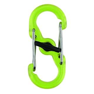 Nite Ize S-Biner MicroLock-Kunststoff, durchsichtig-grün, 2 STK Doppelhaken
