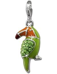 SilberDream toucan vert-elements charm en argent 925 pour bracelet à breloques gSC545L collier boucles d'oreilles