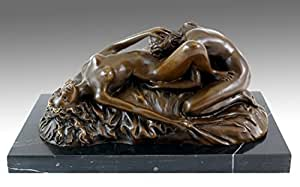 Érotique Vienna-Bronze-Cunnilingus Inscription Play-Lambeaux Nudes-Sculpture érotique pour la vente