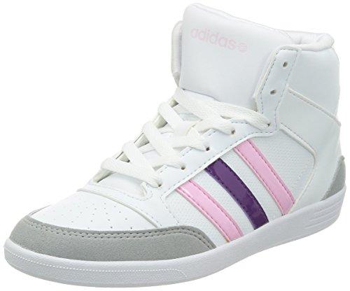 Adidas VLNEO Hoops Mid W F38384 Damen Sneaker / Freizeitschuhe Weiß Weiß