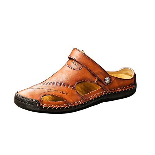 RYTEJFES Sandalias Hombres Casual Plataformas Zapatos