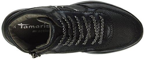 Tamaris 25826, Sneakers Hautes Femme Noir (Black Str.Comb 053)