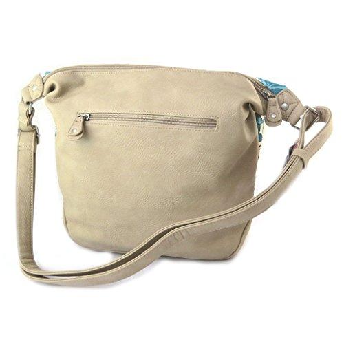 Bolsa de hombro 'Gabol'de color beige turquesa.