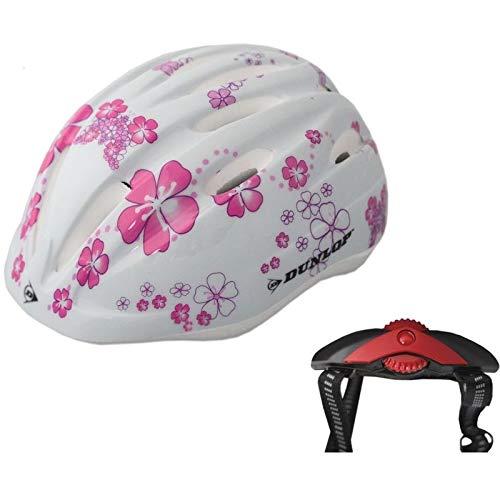 DUNLOP 48-52 cm Kinderfahrradhelm Kinderhelm Fahrradhelm Schutzhelm Fahrrad Helm (Blume)