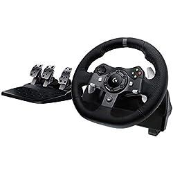 Logitech G920 Volant + Pédales pour Xbox One/PC Noir (941-000123) (Reconditionné Certifié)