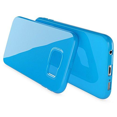 iPhone 6S Plus 6 Plus Cover Custodia Protezione di NICA, Ultra-Slim Case Protettiva Morbido Cellulare in Silicone Gel, Gomma Jelly Bumper Sottile per Telefono Apple iPhone 6S+ 6+ - Rosso Blu