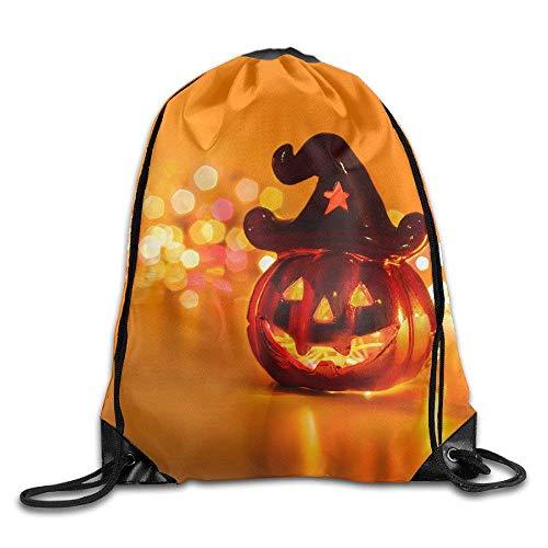 ZHIZIQIU s Halloween Eve Pumpkin Cap Drawstring Bags Portable Backpack Pocket Bag Travel Sport Gym Bag Yoga Runner Daypack -