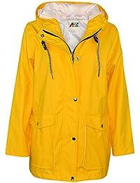 A2Z 4 Kids® Kinder Mädchen Jungen PU Regen Mantel Gelb Jacken Windbreaker Mit Kapuze Wasserdicht Regen Mac Cagoule Dusche Beständig Cagoule Alter 5-13 Jahre