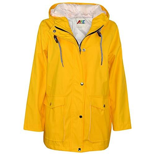 A2Z 4 Kids® Kids Girls Boys PU Raincoat Jackets Windbreaker Hooded Waterproof Rainmac Cagoule Shower Resistant Kagoul Age 5 6 7 8 9 10 11 12 13 Years