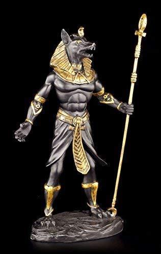 ANUBIS Figure - EGYPTIAN WARRIOR BLACK AND GOLD - Decoration EGYPT Statue Diós Deidad