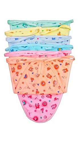 First Step Newborn Hosiery Baby Nappies Pack Of 6Pcs (Multi)