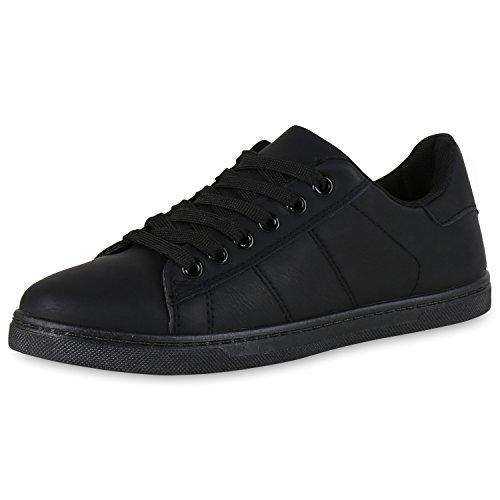 Damen Herren Low-Top Sneaker Flats Turnschuhe Retro Damen SNEAKERS Schwarz Neu Nuovo 38