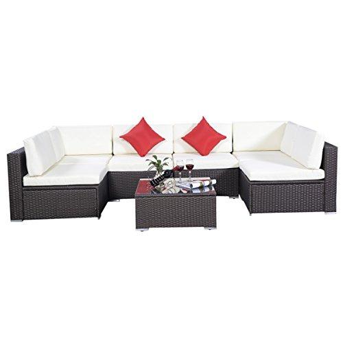 Rattan Set Gartenmöbel Lounge Polyrattan Sitzgruppe Rattanmöbel Garnitur Garten 5er Set