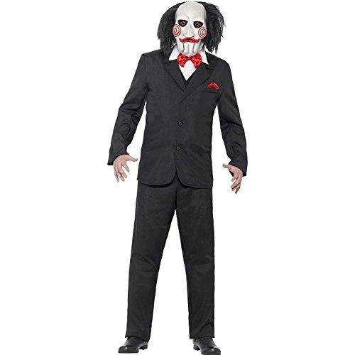 (Smiffys Saw Herren Kostüm Jigsaw Karneval Fasching Halloween Gr.M)
