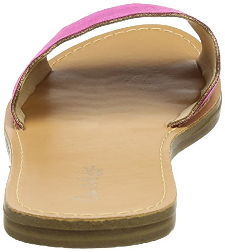 Miss Selfridge Damen Scallop Flat Pantoletten Pink (Pink)