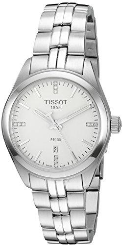 Tissot PR 100svizzero al quarzo da donna in acciaio inox orologio elegante, colore: silver-toned (modello: t1012101103600)