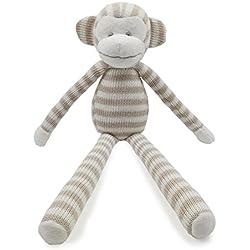 Kiyi-Gift Bebé Juguete | adorable Juguete de Peluche de Piernas Largas Mono | Algodón Orgánico Suave para bebé