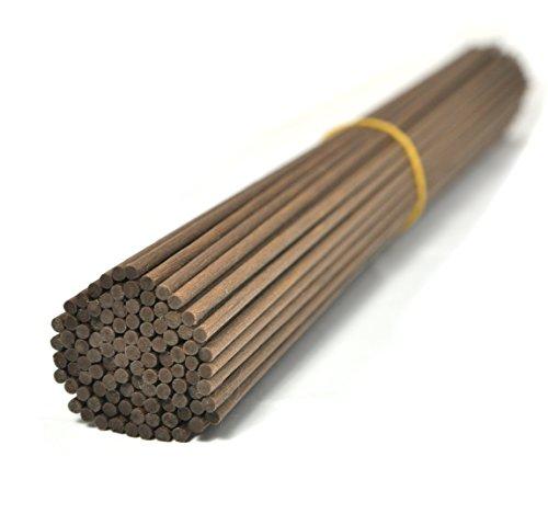 100 Stück Fasern stäbchen Reed Diffusor Stöcke Reed Sticks ätherisches Öl Aroma Diffusor Stöcke (30cm*3mm, Braun) (Reed Braun)