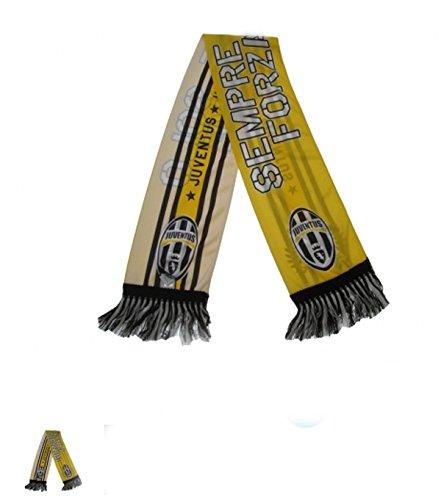 Bufanda oficial Juventus poliéster–Sempre y solo Forza Juve–Tamaño Aprox. 20x 140