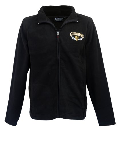 guinness-official-merchandise-harp-trademark-fleece-mens-jacket-black-medium