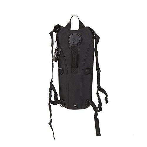 Shiningup Rucksack Hydratation Rucksack Run-Pack mit 3 Liter Wasser Blase Tasche zum Wandern, Laufen, Camping, Klettern, Radfahren, Wandern, Jagd Schwarz