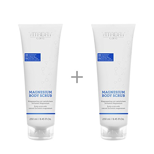 Magnesium Body Scrub - Körper Peeling mit natürlichem Magnesium (500 ml (2 x 250 ml)) - Iso-körper-spray