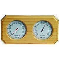 Sauna de Madera termómetro y higrómetro doble Hygrothermograph de madera sauna sala de sauna accesorios más grande tamaño