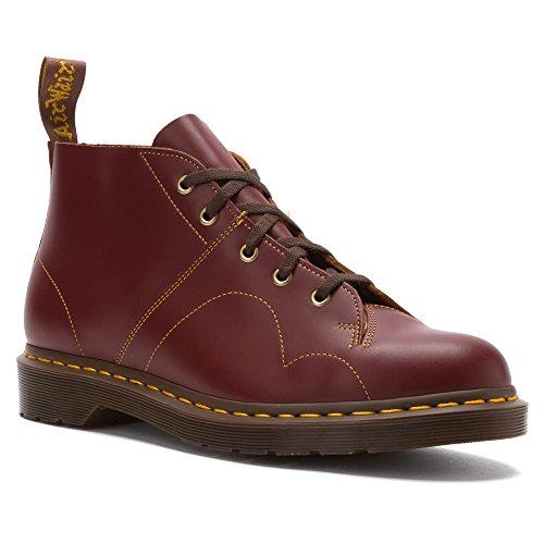 Dr Martens Arquivo Sapatos Igreja Macaco, Material Superior Lisa, Estilo Vintage, Oxblood Vermelho Vermelho