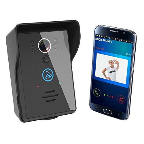 PQZATX -WiFi-Video-IR-Kamera-Tuerklingel-Tuer-Telefon-Visual-Intercom-Nachtsicht EU-Stecker Infrarot-Kamera Intercom-außeneinheit
