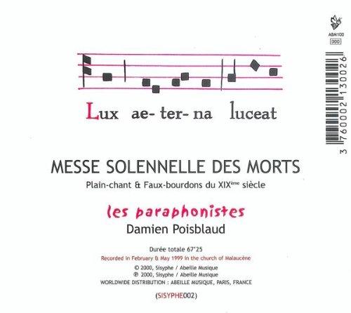 Messe Solennelle Des Morts;Plain-Chant & Faux-Bourdons Du Xixe Siecle
