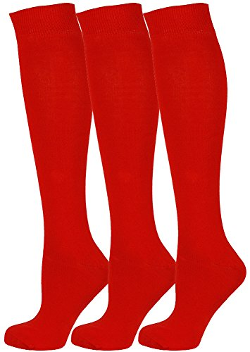 Mysocks Unisex 3 Pairs Knee High Plain Socks