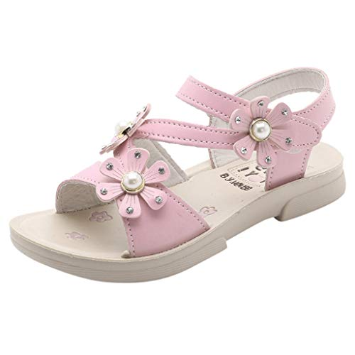 Pingtr - Kinder Mädchen Hausschuhe,Sommer Neue Blumen koreanische Kinderschuhe Prinzessin Schuhe Mädchen Sandalen