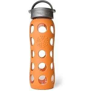 Glas-Trinkflasche 650ml, orange