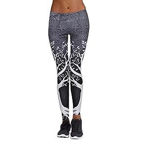 Mamum Baum Druck Leggings Yogahosen, gedruckt Sport Yoga-Training Fitness-Studio Fitness-Übung athletische Hosen
