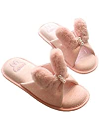 Oyfel Zapatillas de Estar Slippers Pantuflas Zapatos Calzado Casa Conejo Invierno Christmas 38/39