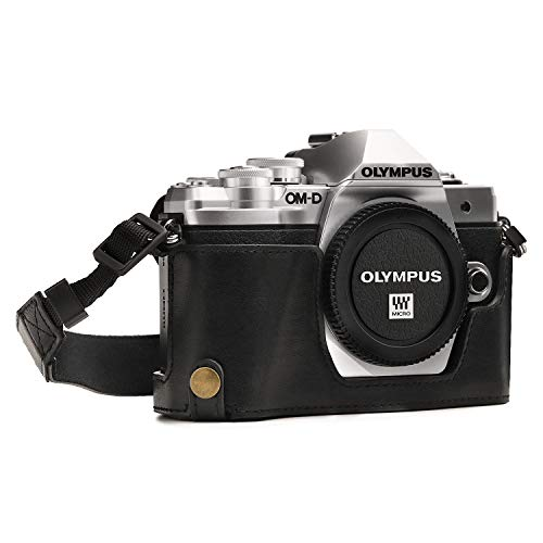 MegaGear MG969 Olympus OM-D E-M10 Mark II, E-M10 Ever Ready Custodia metà copertura in ecopelle per Fotocamera con Tracolla -