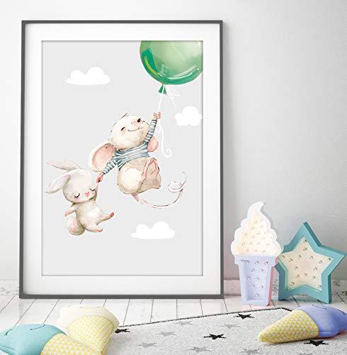 artpin: artpin® 3er Set Poster Kinderzimmer Deko - Bilder Babyzimmer ...