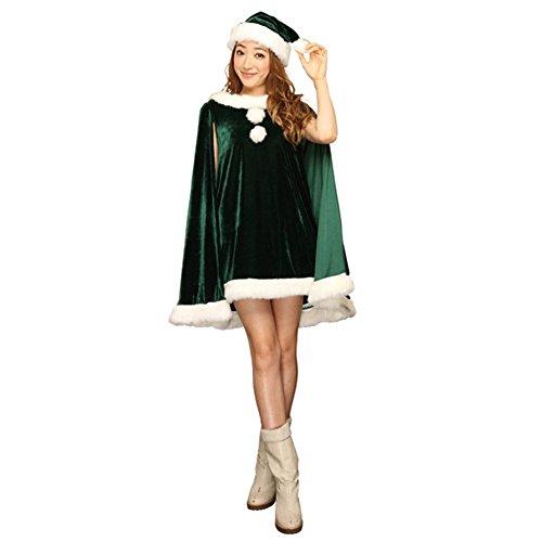UK Mall Damen Wickel Kleid One size Grün -friseur-murat.de