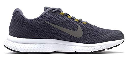 NIKE Men's RUNALLDAY Light Carbon/MTLC Pewter-Gridiron Running Shoes (898464-017)