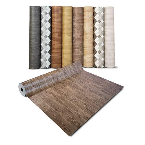 casa pura® CV Bodenbelag Bartek Oak - extra abriebfester PVC Bodenbelag (geschäumt) - Bartek Eiche - edle Holzoptik - Oberfläche strukturiert - Meterware (200x100 cm)