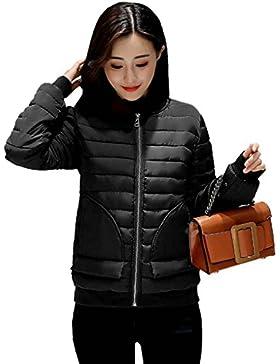 KOROWA Rivestimento del collare del basamento di inverno delle donne del cappotto del cappotto di baseball di...