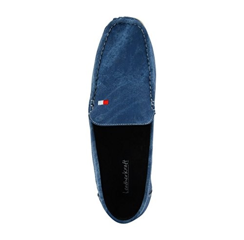 LeatherKraft Men's Blue Loafers-5 UK/India (39 EU) (LKLFDNMBL_5)